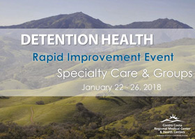 Contra Costa Detention Health Specialty Care and Therapeutic Groups Rapid Improvement Event