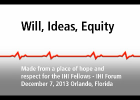 Will, Ideas, Equity